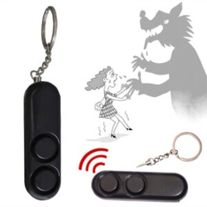 120dB Self Defense Anti-rape Device Dual Speakers Loud Alarm Keychain Bag Pendant Alert Attack Panic Safety Personal Security