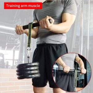 PG Gym Fitness Forearm Trainer Strengthener Hand Gripper Strength Exerciser Weight Lifting Rope Waist Roller Equipment