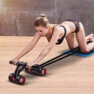 4-Wheel Abdominal Roller Muscle Trainer Home Fitness Ab Rollers Workout