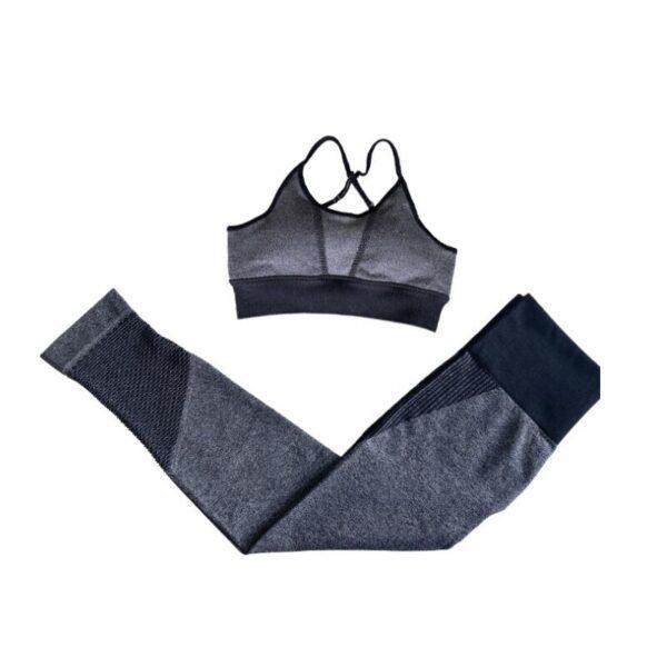 2/3Pcs Seamless Sport Set Women Fitness Sport Suit Bra/Crop Vest Hollow Out Leggings Set Workout Outfit Sport Wear Yoga Sets New