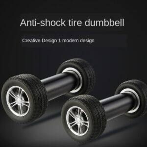 Men's and Women's Kids' Fitness Equipment Dumbbell 2.2kg Creative Tire-Shaped Dumbbell