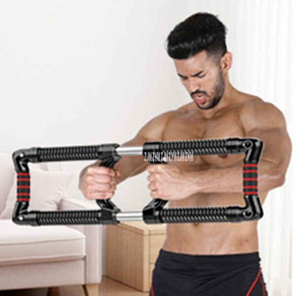 Two Way Strength Of Arm Adjustable Hand Gripper Strength Chest Expander Apparatus For Exercising Arm Power Spring Power Twister